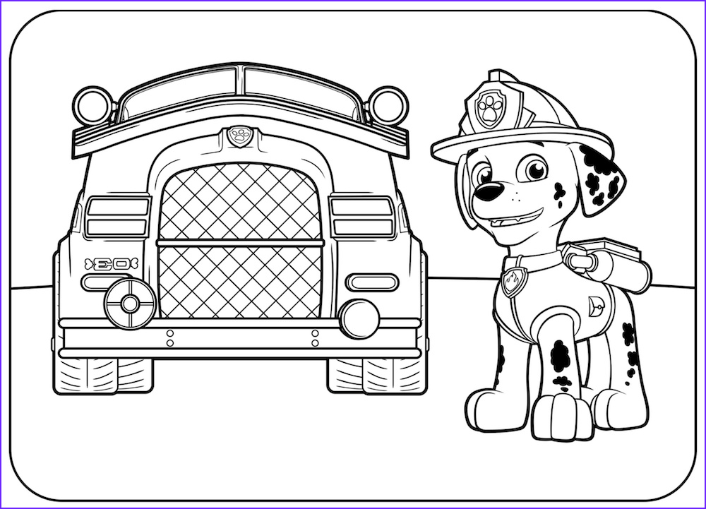 Coloring Paw Patrol Cool Collection top 10 Paw Patrol Coloring Pages