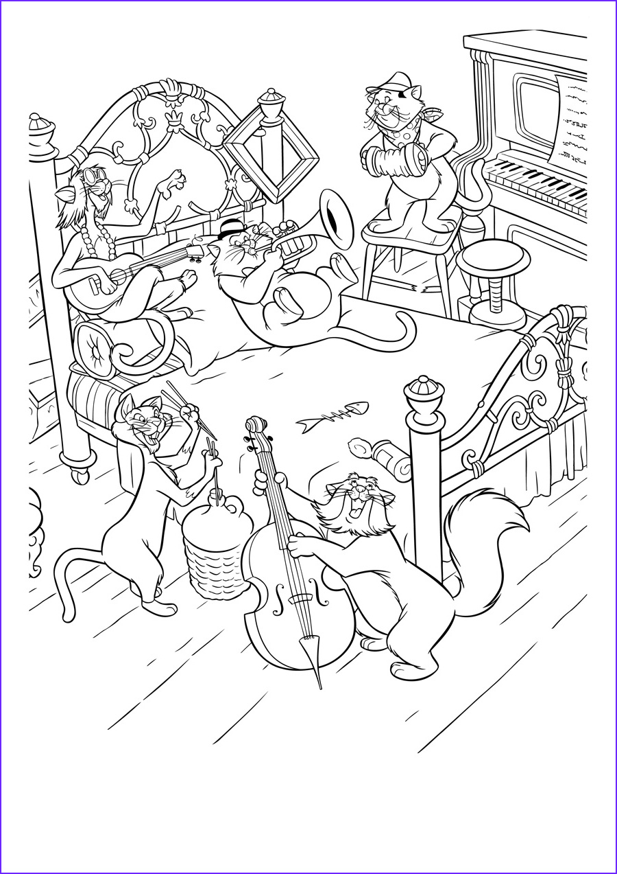 Coloring Pics New Image the Aristocats Coloring Pages to and Print for Free