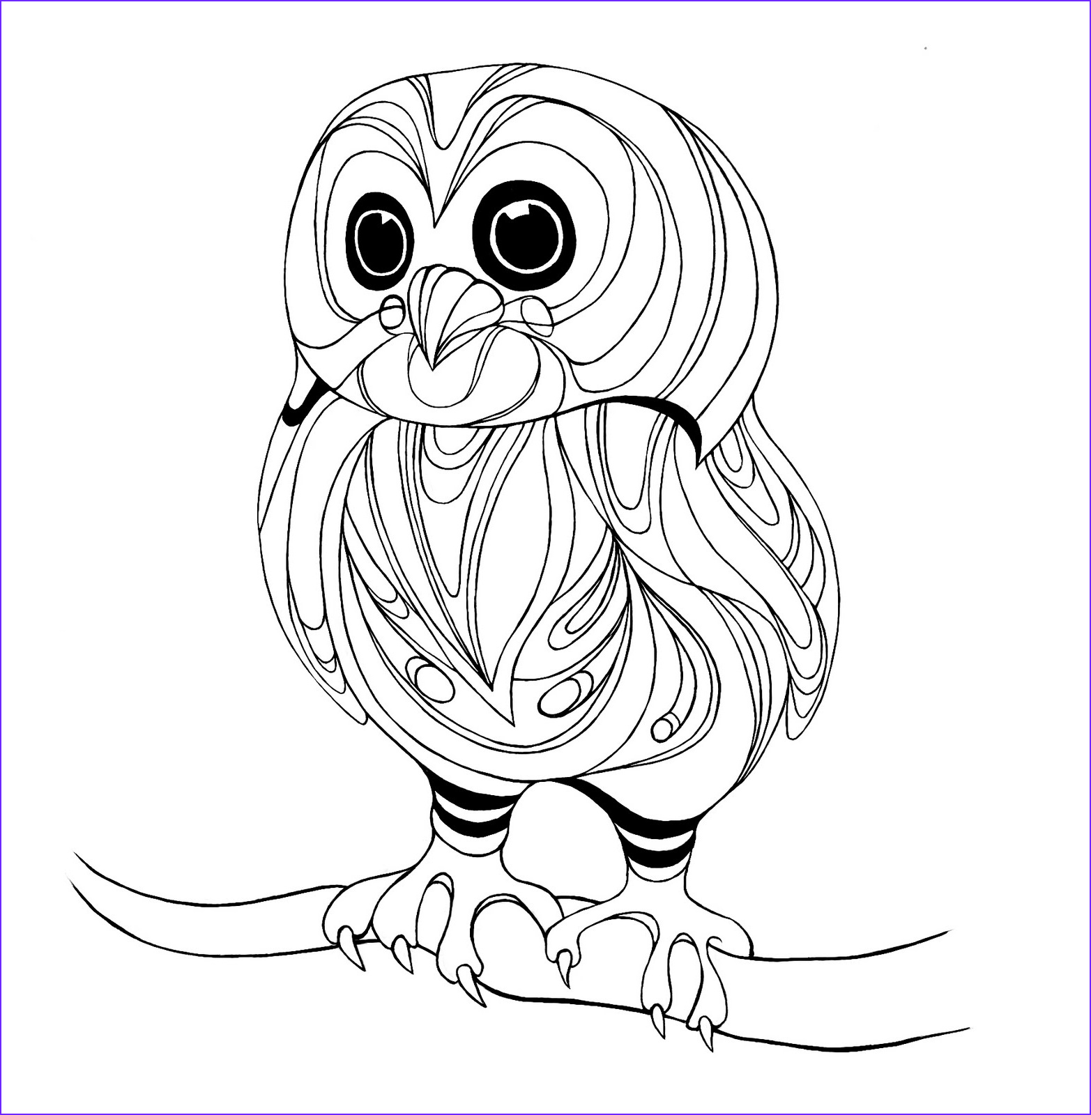Coloring Picture Of Owls Cool Photos Owls to Color On Pinterest