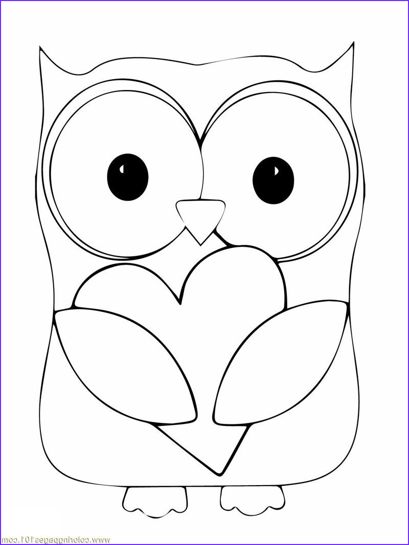 Coloring Picture Of Owls Unique Stock Owl Coloring Page Free Owl Coloring Pages