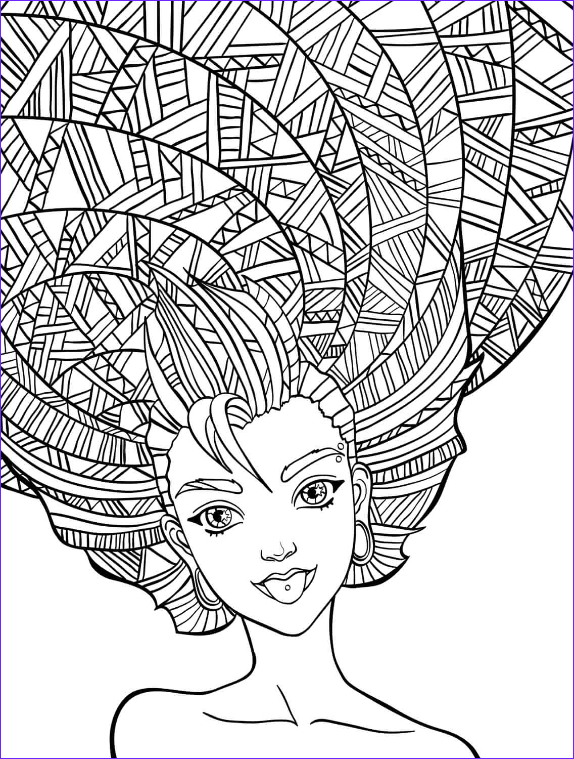 Coloring Pictures for Adults Awesome Photos 10 Crazy Hair Adult Coloring Pages Page 9 Of 12 Nerdy