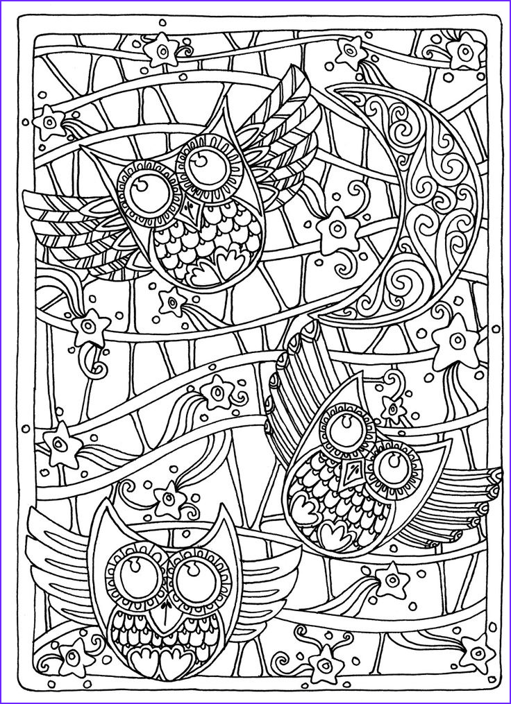 Coloring Pictures for Adults Beautiful Collection Owl Coloring Pages for Adults Free Detailed Owl Coloring