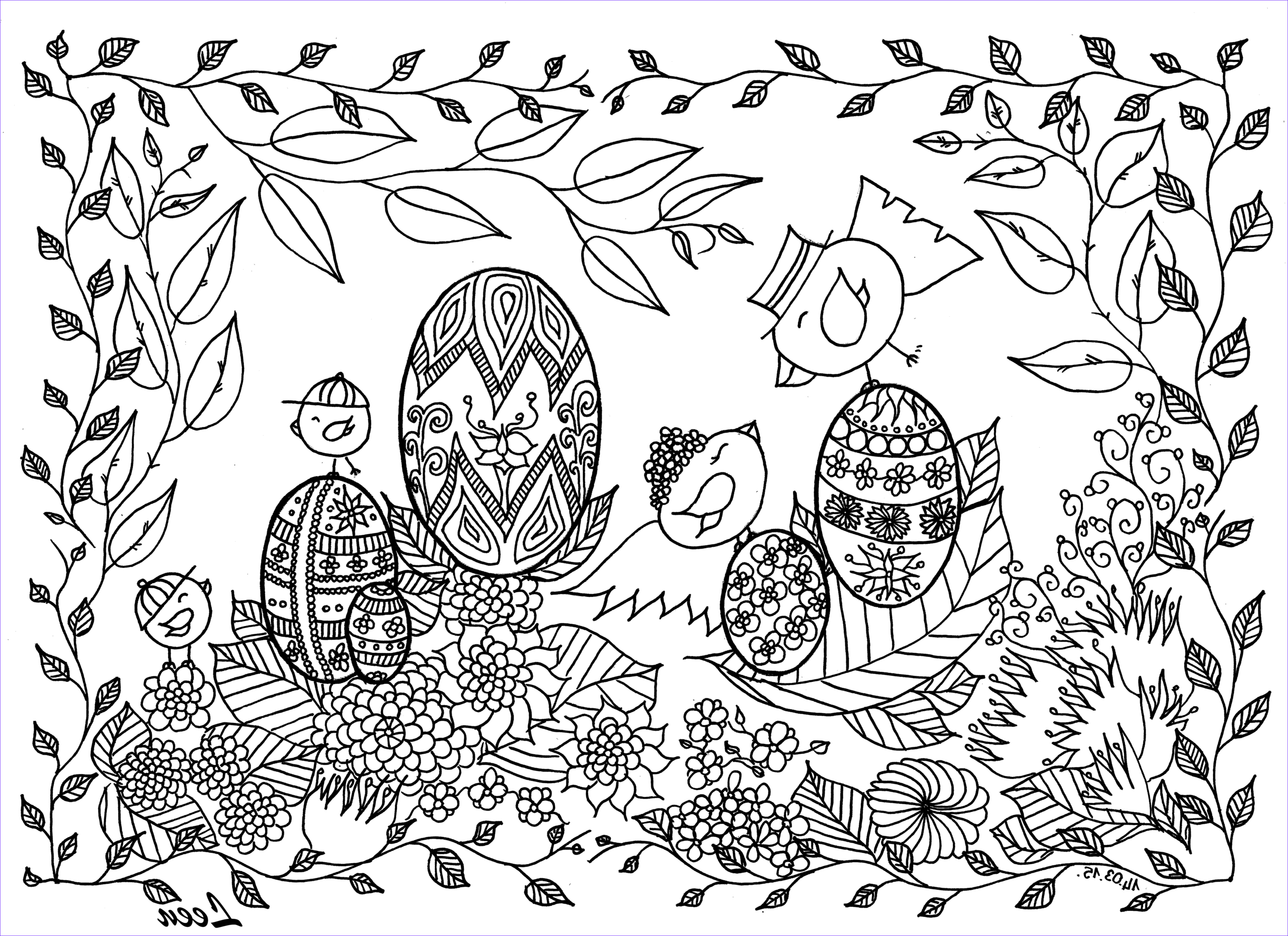 easter coloring pages adults