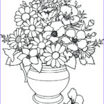 Coloring Pictures Of Flowers Awesome Images Flower Coloring Pages Coloringsuite