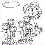 Coloring Pictures Of Flowers Cool Collection Free Printable Flower Coloring Pages For Kids