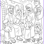 Coloring Pictures Of Jesus Luxury Gallery Christ Meeting the Children