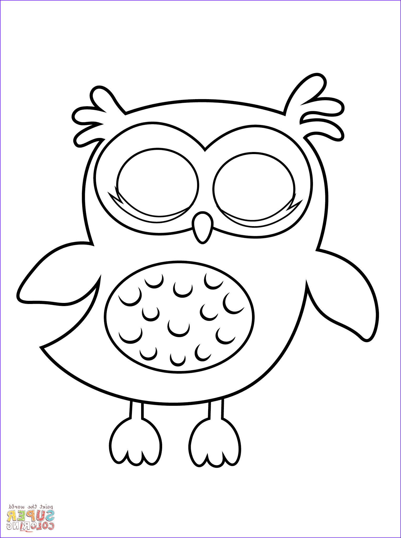 Coloring Pictures Of Owl Inspirational Photos Owl Coloring Pages Preschool Coloring Home