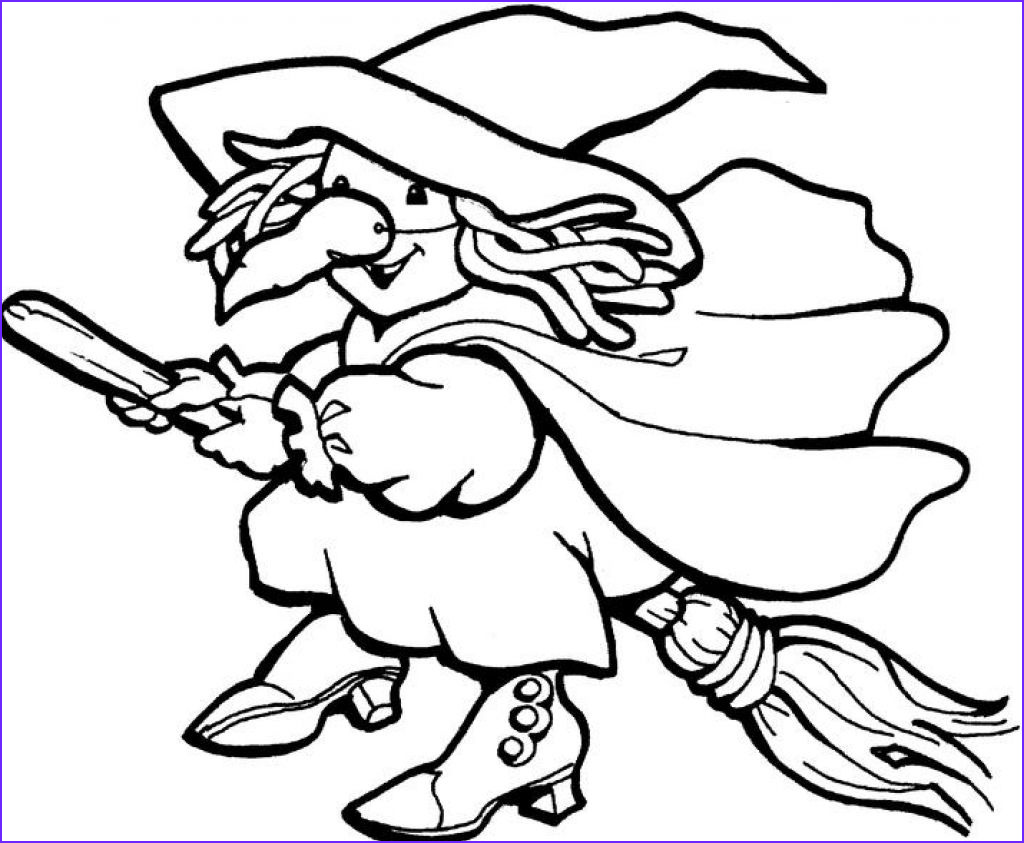 Coloring Pitchers New Image Free Printable Witch Coloring Pages for Kids