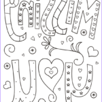 Coloring Postcards Cool Stock Missing You Doodle Coloring Page