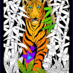 Coloring Poster Awesome Stock Bamboo Tiger 16×20 Inch Fuzzy Velvet Coloring