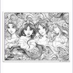 Coloring Poster Awesome Stock Disney Princesses Coloring Poster
