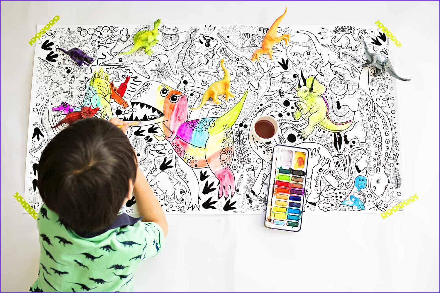 LARGE ILLUSTRATED COLORING POSTERS FOR KIDS FROM LITTLE SOUL Shop