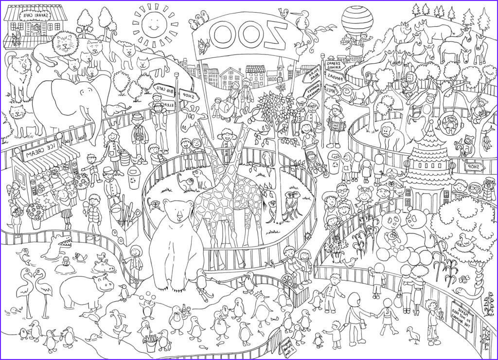 zoo colouring in poster by june armstrong