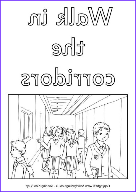 coloring pages for school rules