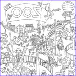 Coloring Poster Cool Image Zoo Colouring In Poster By Really Giant Posters