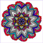Coloring Poster Luxury Image Paisley Bloom Mandala 22×22 Inch Coloring Poster