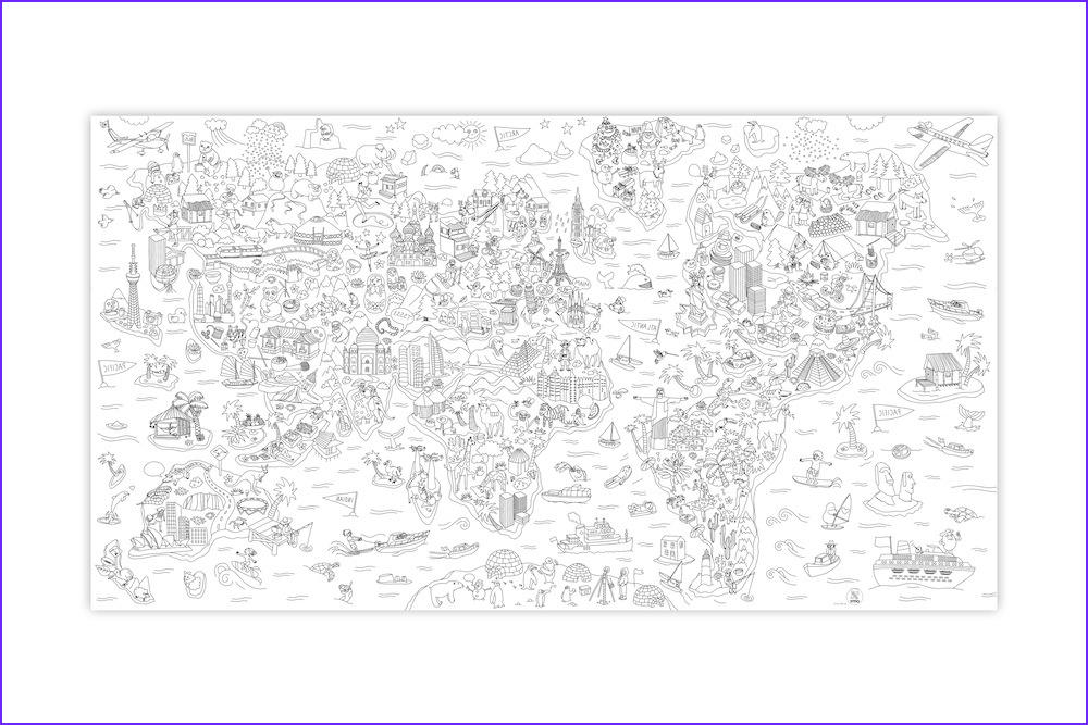 om atlas large coloring poster 1 80 x 1 m