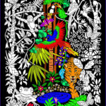 Coloring Poster Luxury Photography Rainforest 16x20 Inch Fuzzy Velvet Coloring Poster