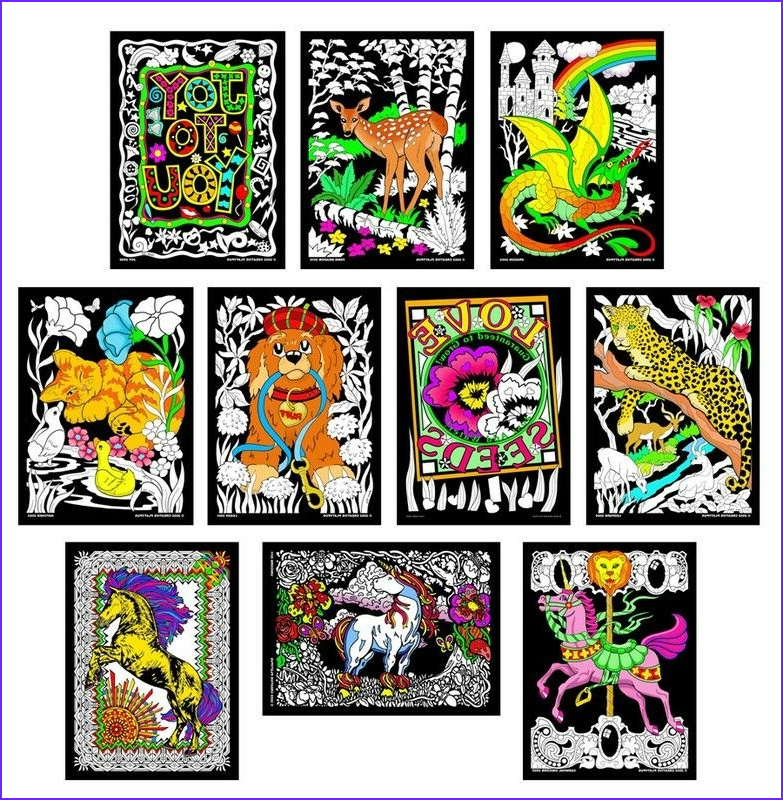 Coloring Poster Luxury Photography Terrific 10 Pack Of Fuzzy Velvet 11x15 Inch Posters by