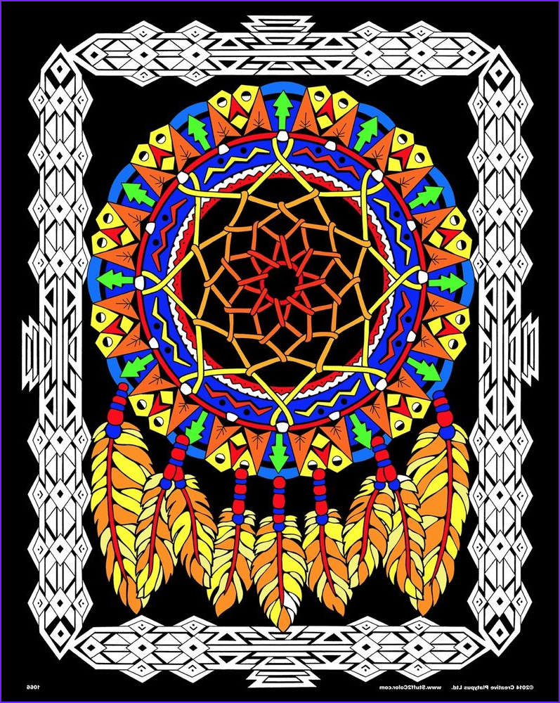 Coloring Poster New Photos Dream Catcher 16x20 Inch Fuzzy Velvet Coloring
