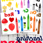 Coloring Poster New Photos Teaching Colors Wall Cards For Toddlers