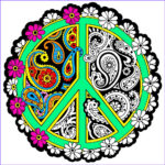 Coloring Posters Inspirational Stock Peace Mandala 20×20 Inch Fuzzy Velvet Coloring