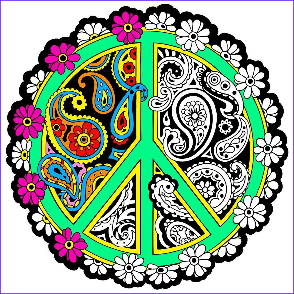 Coloring Posters Inspirational Stock Peace Mandala 20x20 Inch Fuzzy Velvet Coloring