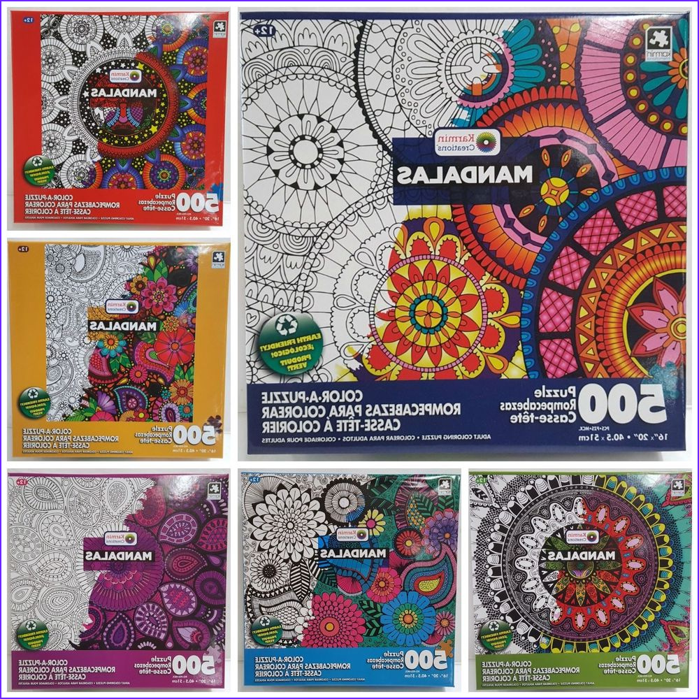 Coloring Puzzles for Adults Elegant Stock Lot Of 6 Karmin 500pc Color•a•puzzle Adult Mandalas