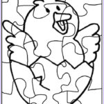 Coloring Puzzles Inspirational Collection Puzzle Coloring Pages To Print Chick 2 Funnycrafts