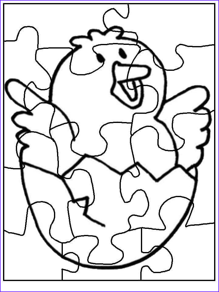puzzle coloring pages to print chick 2
