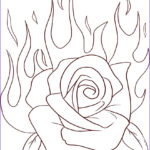 Coloring Roses Awesome Images Rose Coloring Pages Bestofcoloring