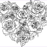 Coloring Roses Inspirational Images Heart Rose Sketch Coloring Page