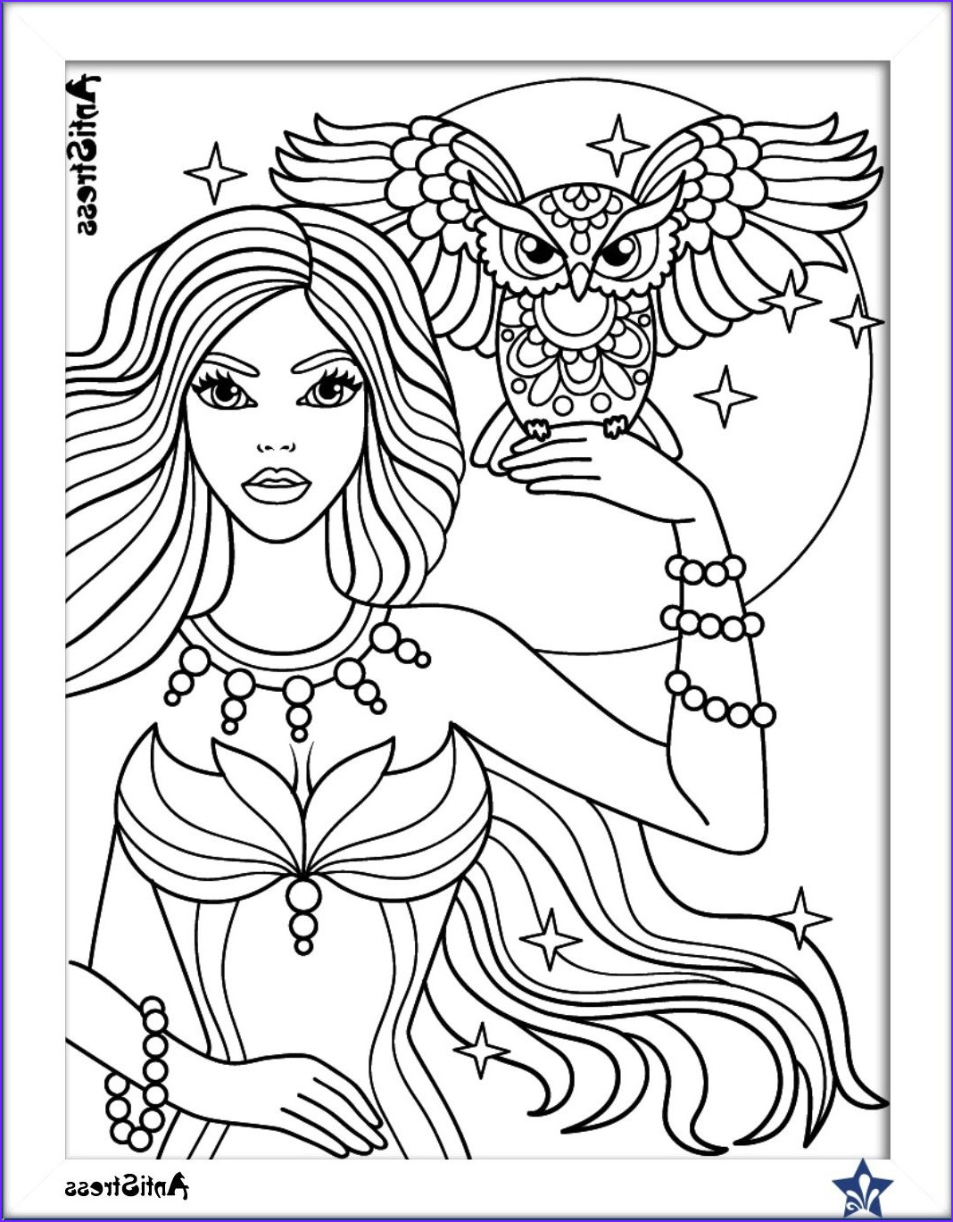 Coloring Sheet for Girls Awesome Gallery Owl and Girl Coloring Page