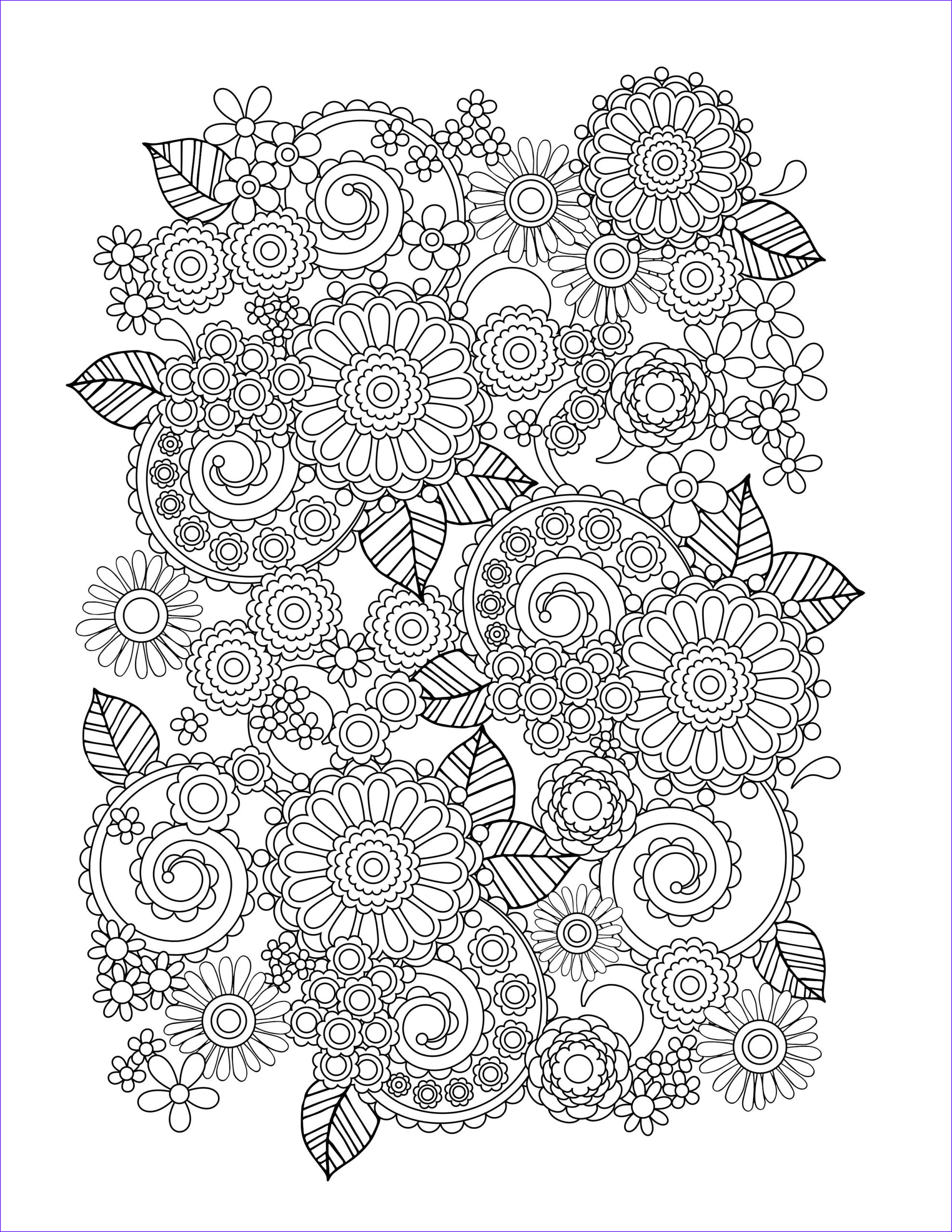 Coloring Sheets For Adults Elegant Stock Flower Coloring Pages For Adults Best Coloring Pages For
