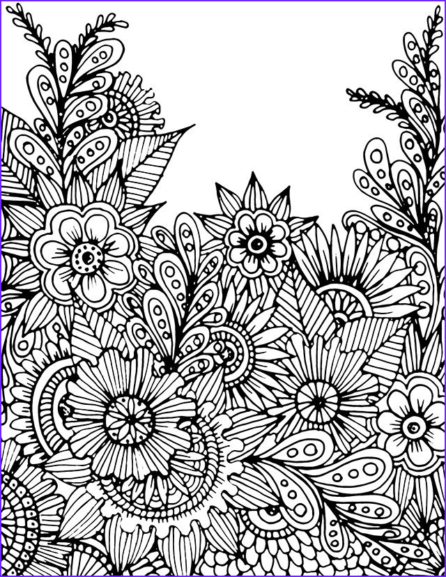 adult colouring flowers
