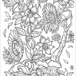 Coloring Sheets For Adults Flowers Cool Photos Floral Fantasy Digital Version Adult Coloring Book