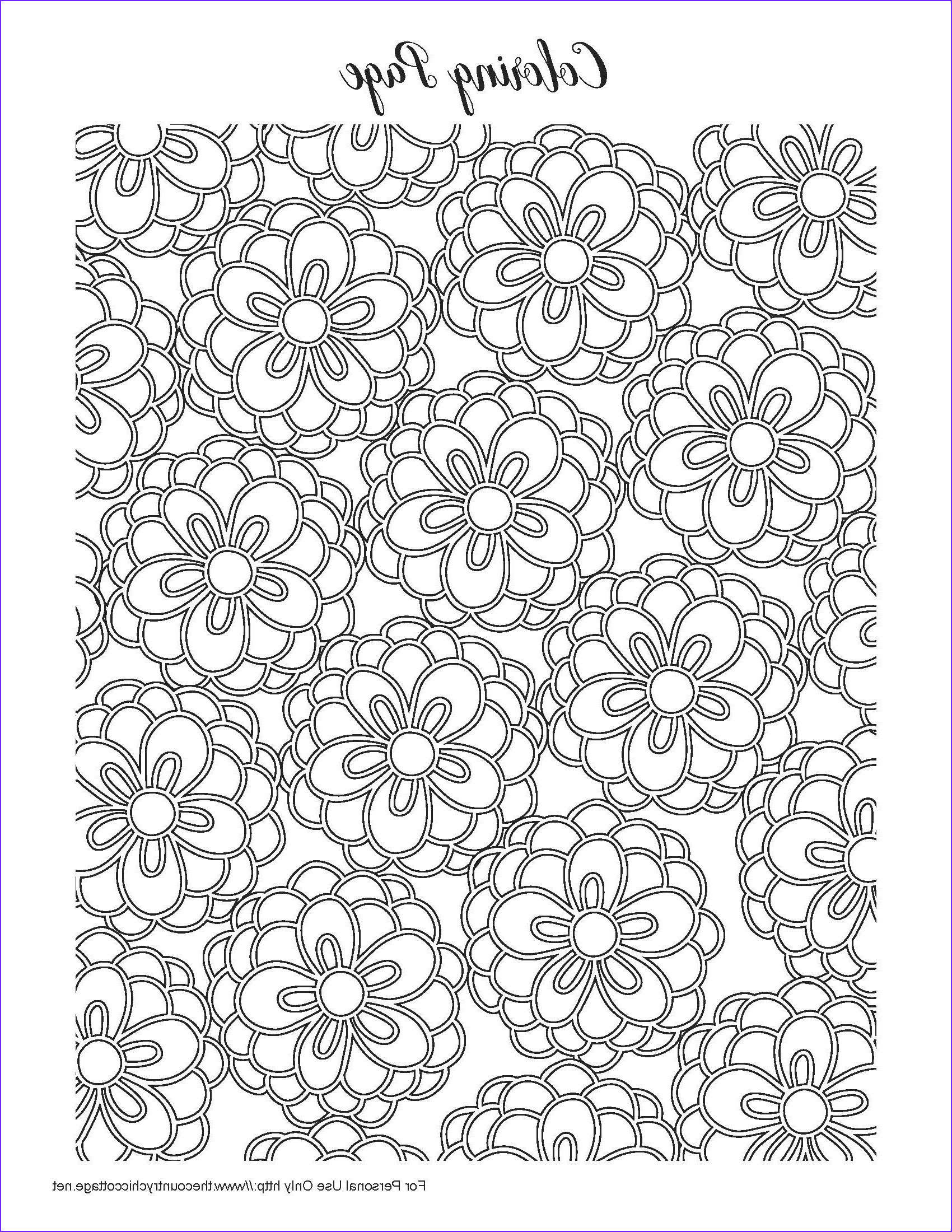 free spring coloring pages for adults