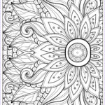 Coloring Sheets For Adults Flowers Luxury Gallery Flower With Many Petals Flowers Adult Coloring Pages