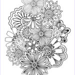 Coloring Sheets For Adults Flowers Luxury Photos Zen Antistress Abstract Pattern Inspired Anti Stress
