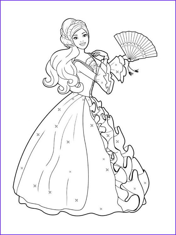 Coloring Sheets for Kids Com Beautiful Collection Kids Page Barbie Coloring Pages for Childrens