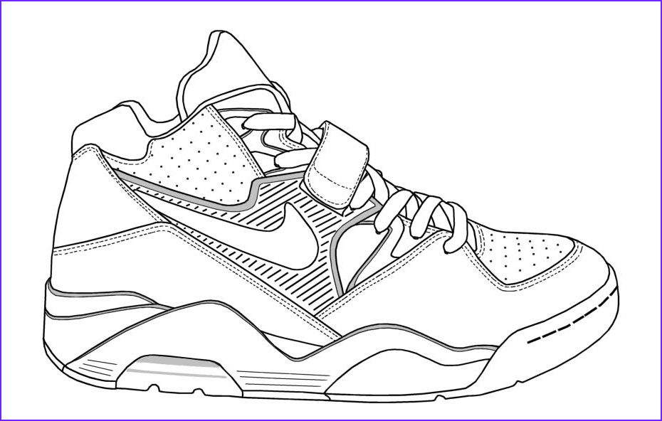 Coloring Shoes Awesome Photos Nike Coloring Pages Coloring Home