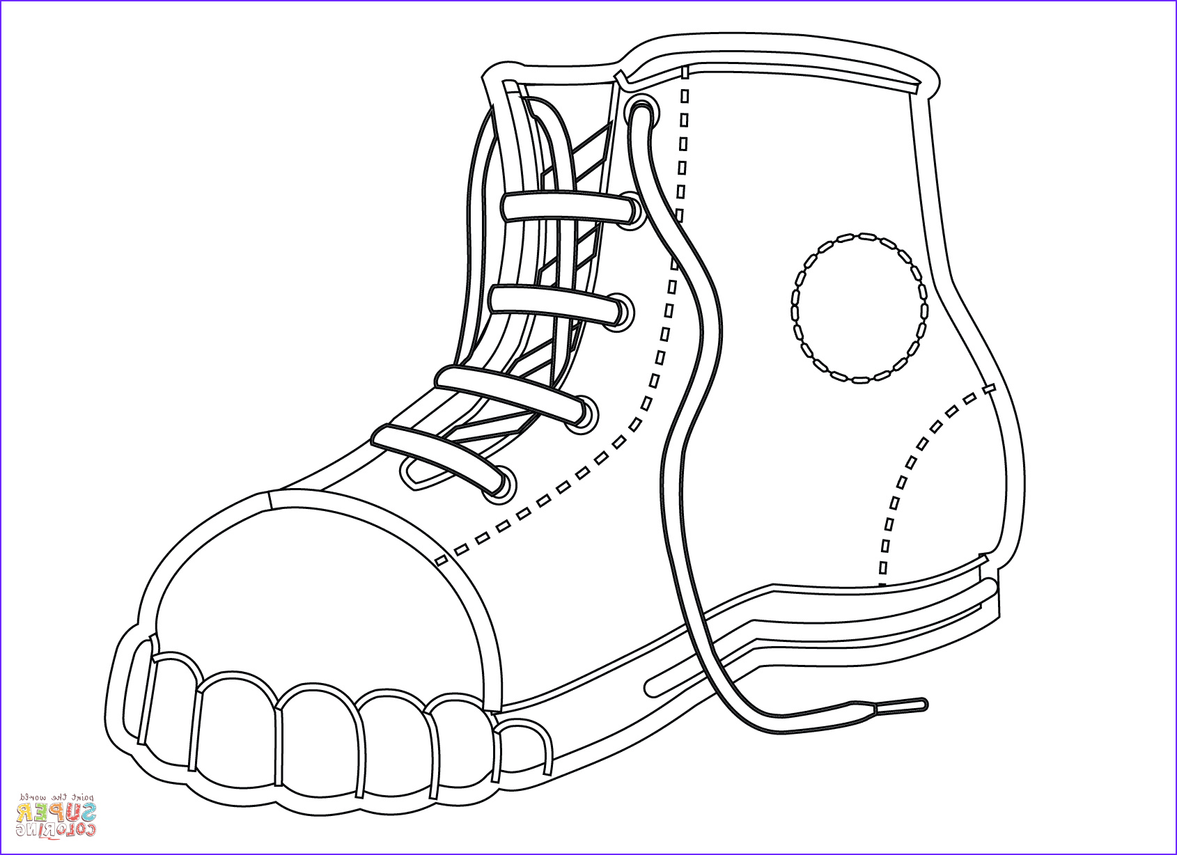 Coloring Shoes Beautiful Gallery Canvas Shoe Coloring Page