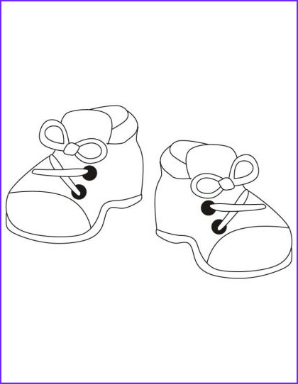 Coloring Shoes Beautiful Image Kids Shoes Coloring Pages
