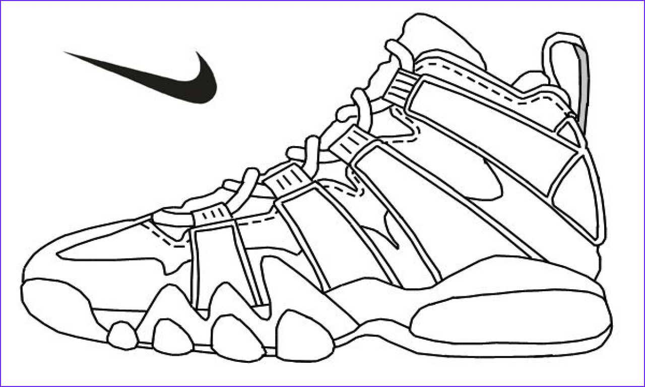 Coloring Shoes Best Of Collection Air Jordan Coloring Pages at Getcolorings