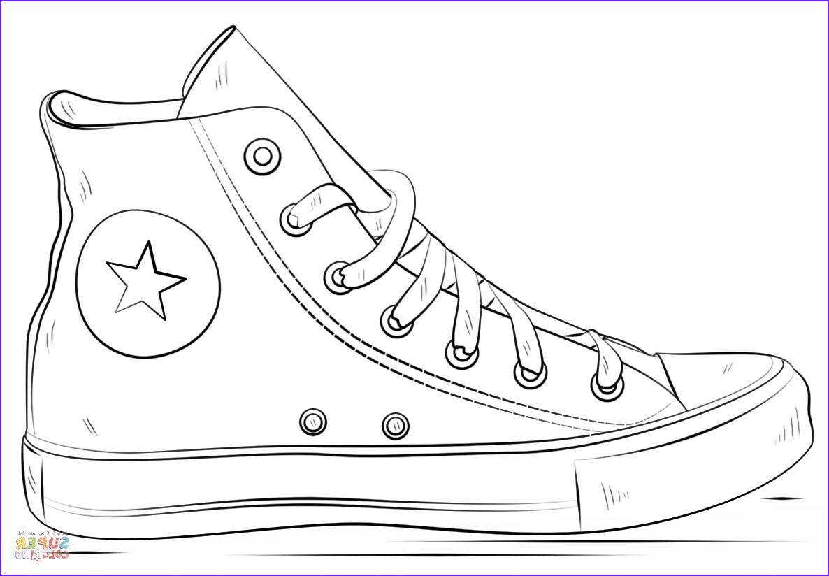 Coloring Shoes Elegant Photos Converse Coloring Pages Free