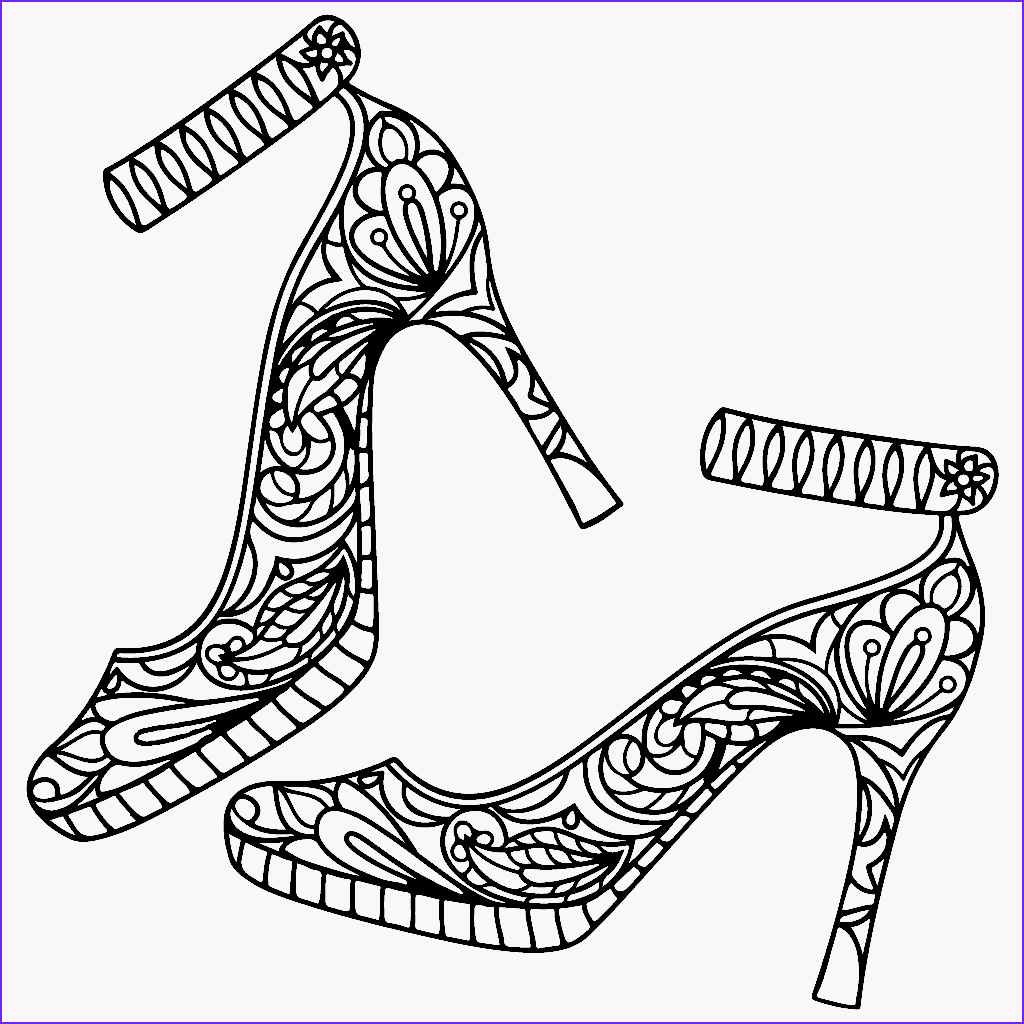 Coloring Shoes Luxury Photos High Heel Shoes Coloring Page Color Me App