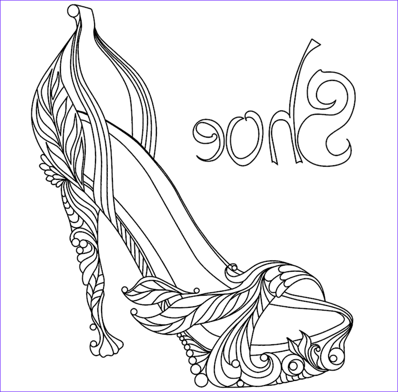 Coloring Shoes New Photos High Heel Coloring Pages at Getcolorings