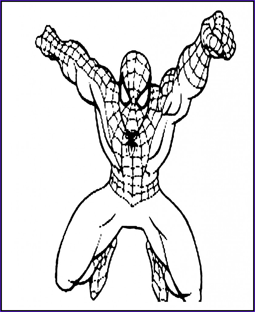 Coloring Spiderman Beautiful Gallery Free Printable Spiderman Coloring Pages for Kids