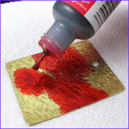 coloring metal with alcohol ink tutorial