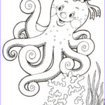 Coloring Steets Luxury Photos Octopus Coloring Pages To And Print For Free